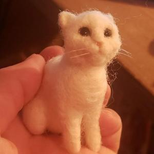 フェルトオーダー小さい猫