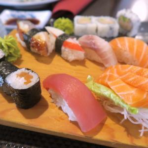 寿司と刺身のバレンタイン、夕日あかあかオルヴィエート