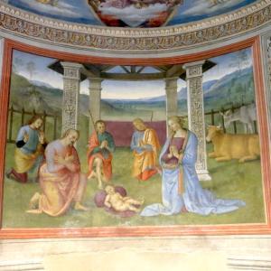 5月 聖母マリア・聖ヨセフとフランチェスコ教皇の言葉、モンテファルコ ペルジーノ キリスト降誕