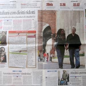 いまだに混乱「イタリア市民と結婚しての手続きと権利」、イタリア移民情報誌生活情報誌