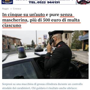 マスクなしで罰金 車での移動に注意、イタリア