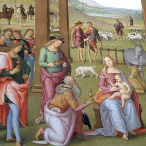 主顕節とペルジーノ「東方三博士の礼拝」とプレぜーぺ、チッタ・デッラ・ピエーヴェ