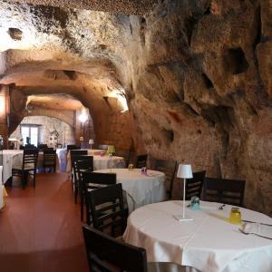 オルヴィエート凝灰石洞窟のレストラン