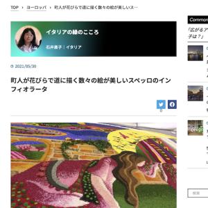 町人が花びらで道に描く数々の絵が美しいスペッロのインフィオラータ、World Voice 連載