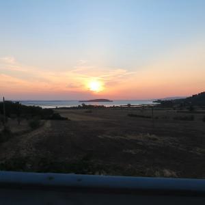 夕焼けの湖と空腹に鳴く雛と親鳥と、トラジメーノ湖