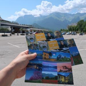 6日後もまだ届かない旅の絵はがき、イタリア 国内郵便