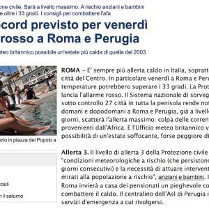 イタリア語学習メルマガ 第9号 「新聞記事を読む〜猛暑の予報と熱中症対策」