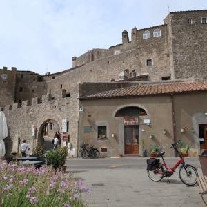 カパルビオ中世の城壁めぐり美しい村、マレンマ・トスカーナ