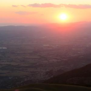 夕色の世界うつくしスバージオ山