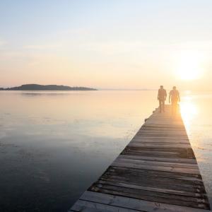 水鏡・夕景きれい、トラジメーノ湖