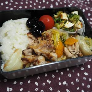 1/10(金)白菜漬けと豚こま炒め弁当