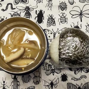 1/30(木)おにぎりと味噌汁弁当としらすチーズトーストの朝ごはん