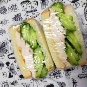 3/13㈮きゅうりと蒸し鶏の塩レモンサンドイッチ弁当