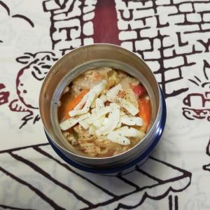 2/16(火)白菜とトマトとチーズのリゾット弁当と週末写真のスキャン作業