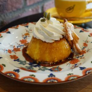 浅草 スプレンダーコーヒーでかぼちゃのプリン