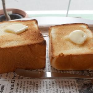 一本堂 新宿本店の カフェで 厚焼きトースト