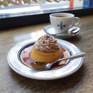 渋谷 コーヒーハウスニシヤの季節限定モンブランプリン