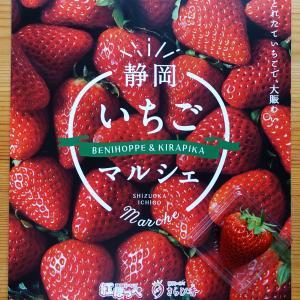 新宿小田急 静岡いちごマルシェでいちごをもらったよ