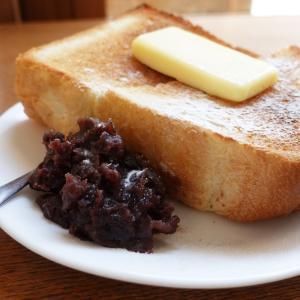 分厚いあんバタートースト トリクロマティックコーヒー