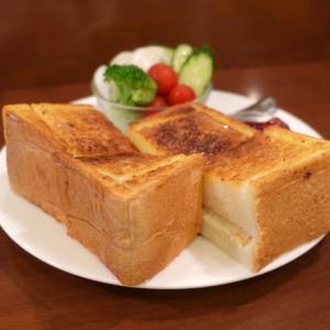 奥浅草 ミモザの超厚切りトーストモーニング