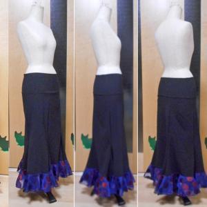 ファルダ 黒×青グラデーション 一段フリル