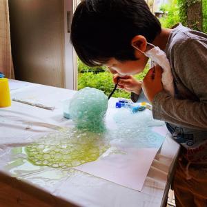 【池袋日曜クラス】バブルアート絵画