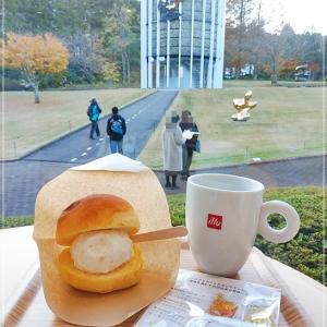 ジェラート・コン・パーネ(足柄産いちじくアイスクリーム)箱根彫刻の森美術館のティータイム