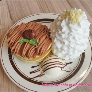 モンブランクリームパンケーキ☆Eggs 'n Things Coffee グランエミオ所沢店