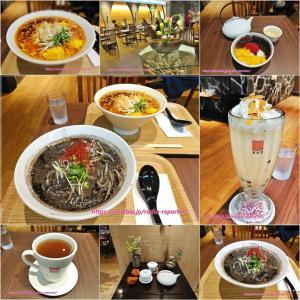 台湾カフェ「春水堂」新メニュー☆黒胡麻担々麺・鶏と生姜の酸辣湯麺・タピオカ安納ミルクティー
