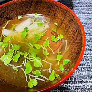 【Line公式】今週のレシピ『山芋ととろろの梅風味のお吸い物』をお届けします♪