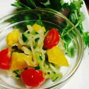 【Line公式】おうちごはんお助けレシピ『切り干し大根の柑橘サラダ』をお届けいたします♪