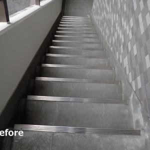 タキステップ5Wで施工しました! マンション廊下階段の改修工事