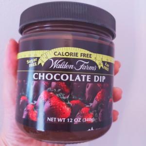 カロリーオフのチョコレートディップ