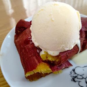 焼き芋+アイス=まいう♬