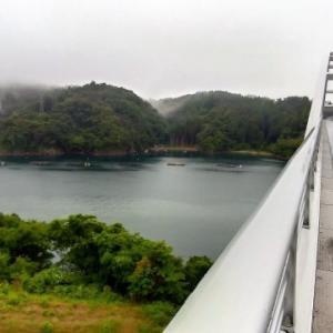 雨の中、気仙沼大島大橋に行ってきました。