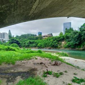 霊屋橋の下から撮ってみる@広瀬川