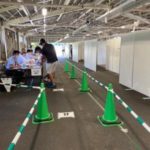 火曜日、コースはクローズでPCR検査と練習を。