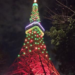 皇居ランからの東京タワー♪