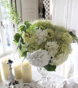 花のある暮らし♪ちっぴーの花の生けかけた
