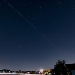 庭で見る国際宇宙ステーション