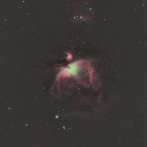 光害地で狙ってみたオリオン大星雲