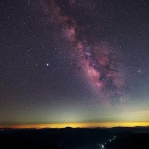 南信州平谷村で撮った星景写真