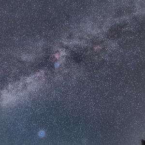 満天の星屑と冬の天の川