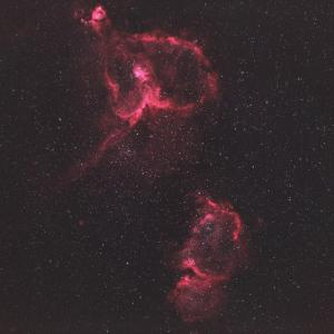 IC1805「ハート星雲」&IC1848「胎児星雲」