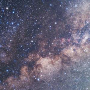 50mmレンズで撮った天の川中心付近