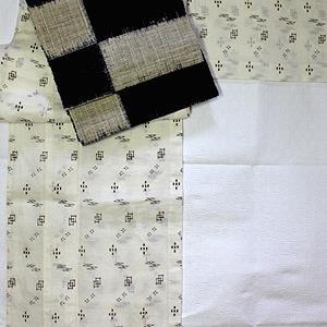八重山上布に麻の帯