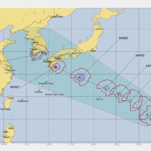 台風8号予想進路  ■サンセベリアの館■