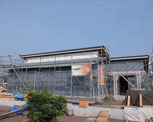 平屋建て新築住宅の工事状況