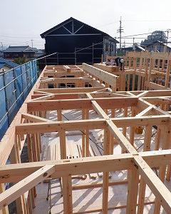 新築住宅の建前・初日