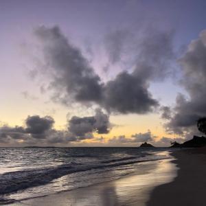 しばらくの辛抱、歩き納めのビーチ。。。